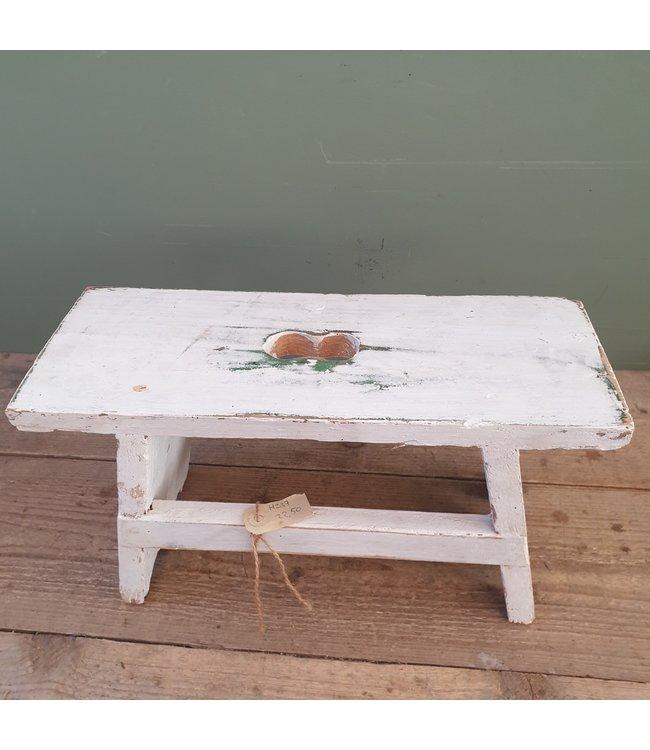 # wit krukje van oud hout - 40 x 15 x 22 cm