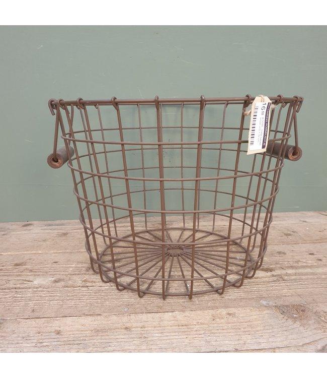 # D099 - metal basket brown d35 h 32 cm