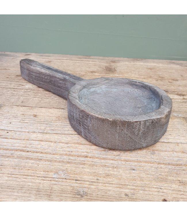 # Plate spoon paulownia 38x17x5cm - Grey-wash