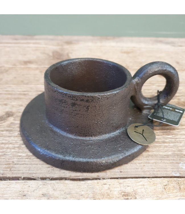 # RING HANDLE CANDLE HOLDER 15 x 13 x 5 cm