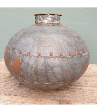 # Nagouri pot old iron -- 6 - 36 x 36 x 30 cm