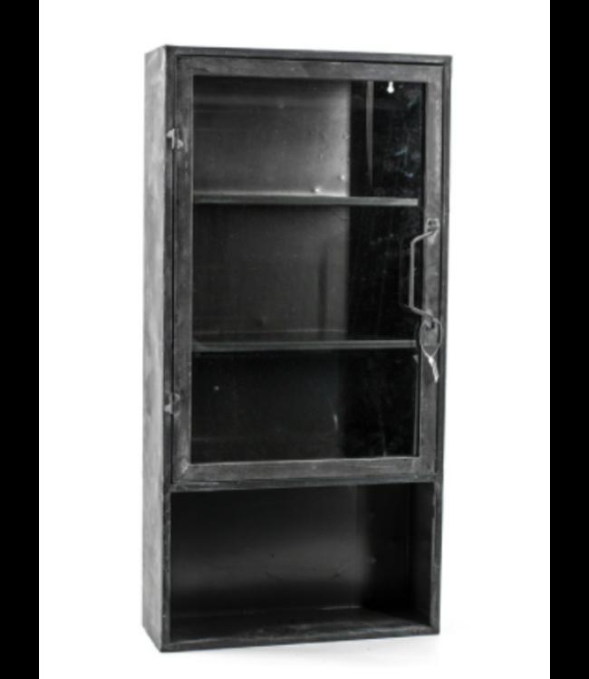 # W331 - hangkast - metaal - glas - 34 x 14 x 71 cm