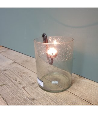"# Cylinder ""bubbelglas"" nr. 3 - 15 x 15 x 20 cm (excl hanger)"
