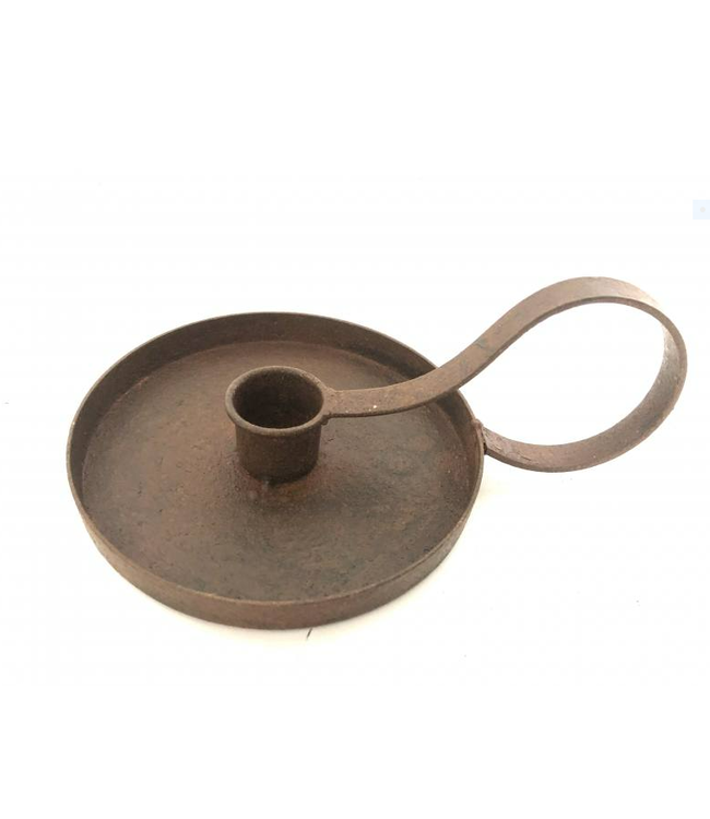 # 1-cup candleh. rusty - 13 x 7 cm