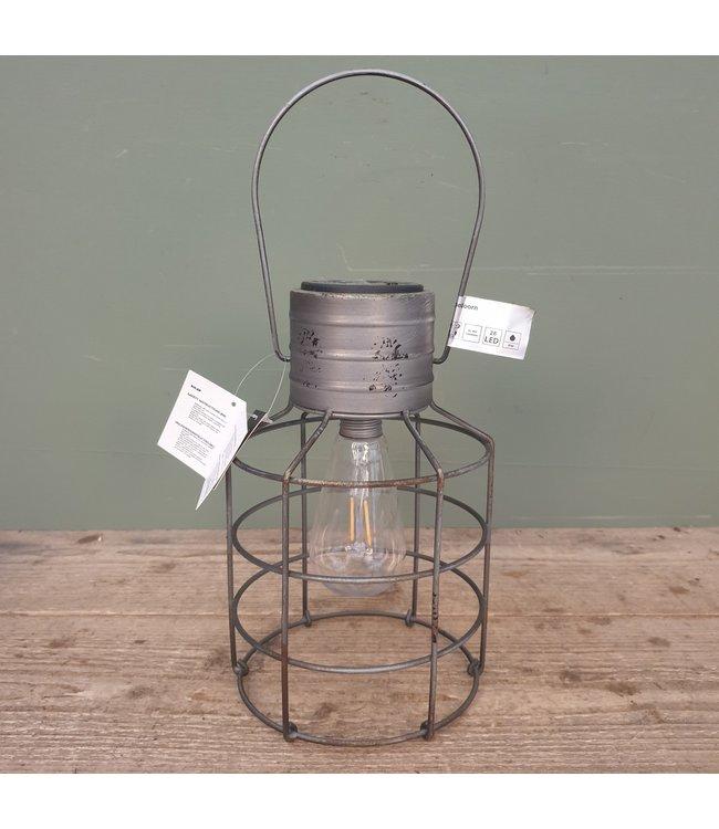 # J341 - lamp led solar bessel grijs - 16 x 39 cm