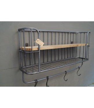 # D055 - Bakkersrek - metaal - hout - 82 x 20 x 50 cm