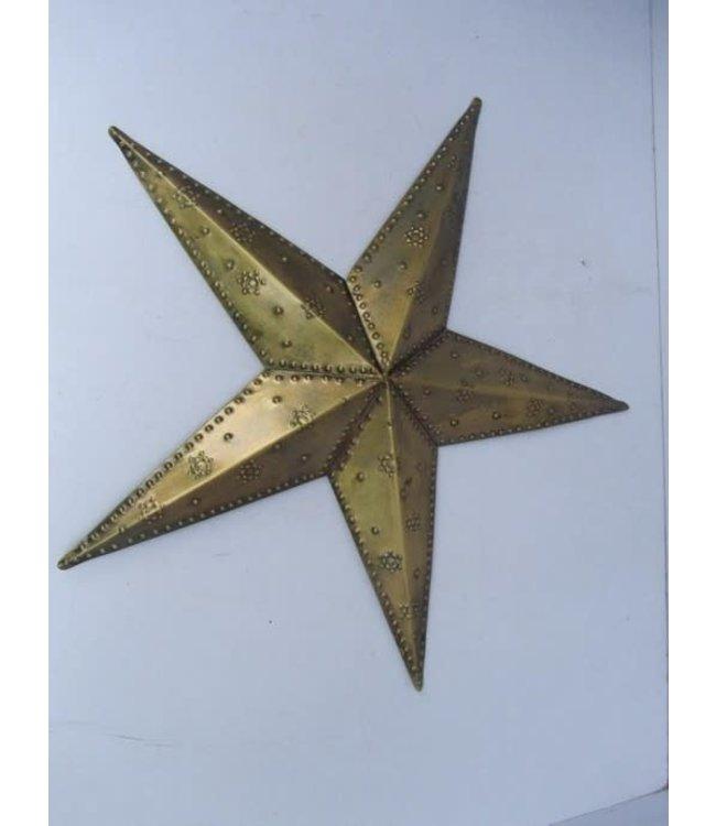Metalen ster voor aan de muur - 40 x 40 x 4 cm