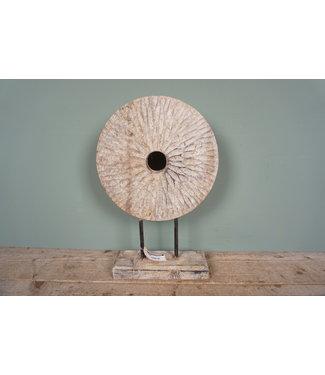 # Ornament hout op standaard - 24 x 9 x 44 cm