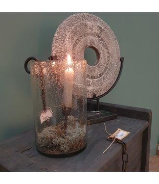 # Lara cil. rusa vase stones XL clear 12 x 21 cm - bubbelglas