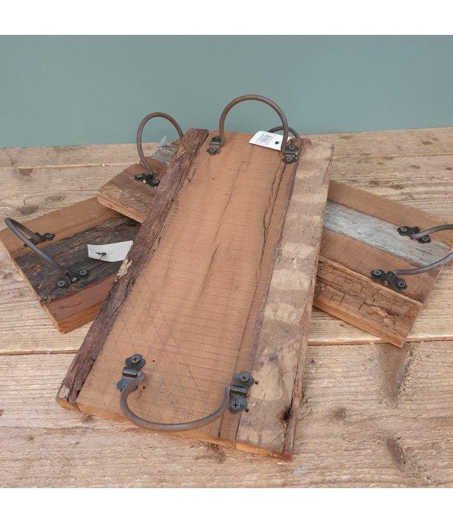 Dienblad - sloophout -per stuk -  40 x 20 x 8 cm