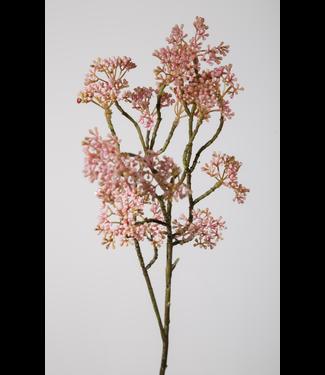 berry spray - roze - kunst - 70cm