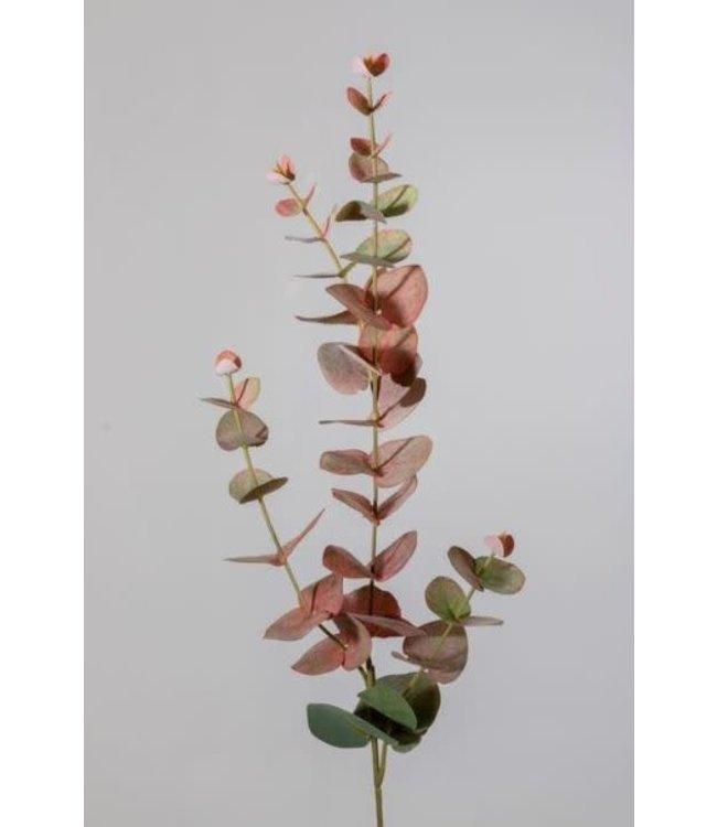 W452 - Eucalyptusspray - kunst - 4 zijtakken - 31 bladeren - 81 cm