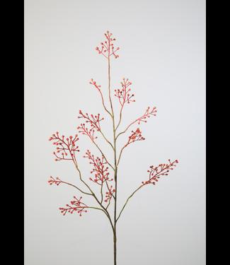 Rozebottel tak - kunst - oranje - rose hip stem - 123 cm