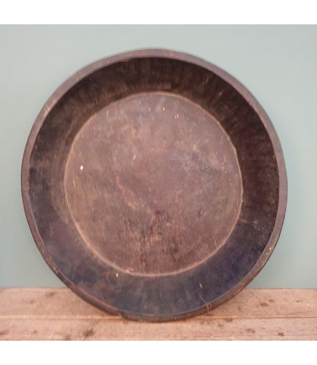 # Ronde houten schaal - 66 - 48 x 48 x 9 cm