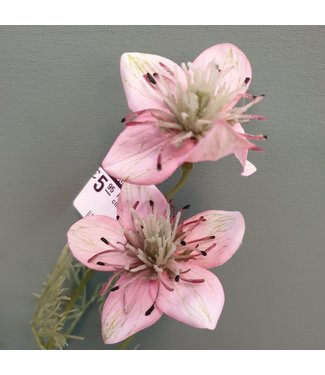 Nigella spray x4  - kunst - 63 cm