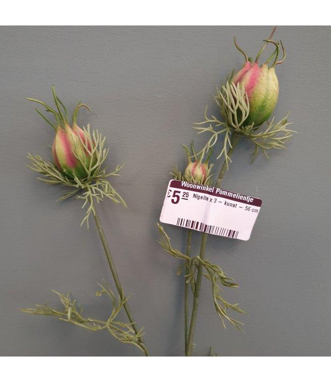 Nigella x 3 - kunst - 56 cm