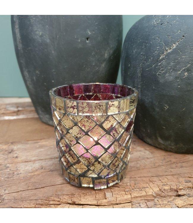 Waxine - glas mozaiek - per stuk - 7 x 7 x 7 cm
