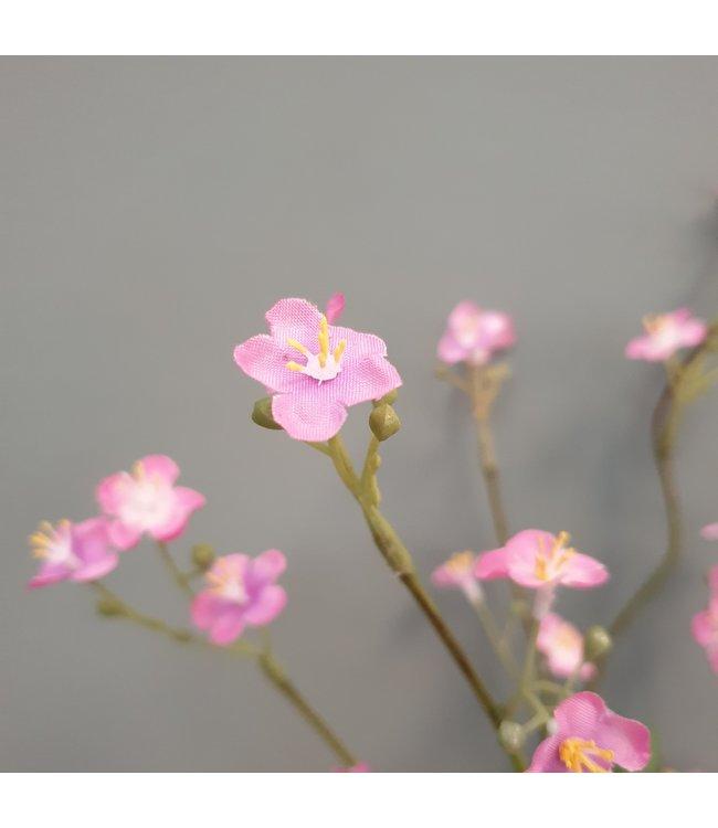 Vergeet me niet - kunst - roze - 73 cm
