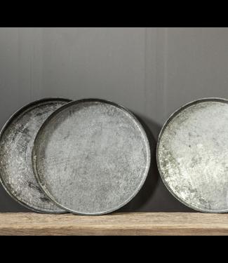 # Metalen dienblad rond - per stuk - 55 x 55 x 5 cm
