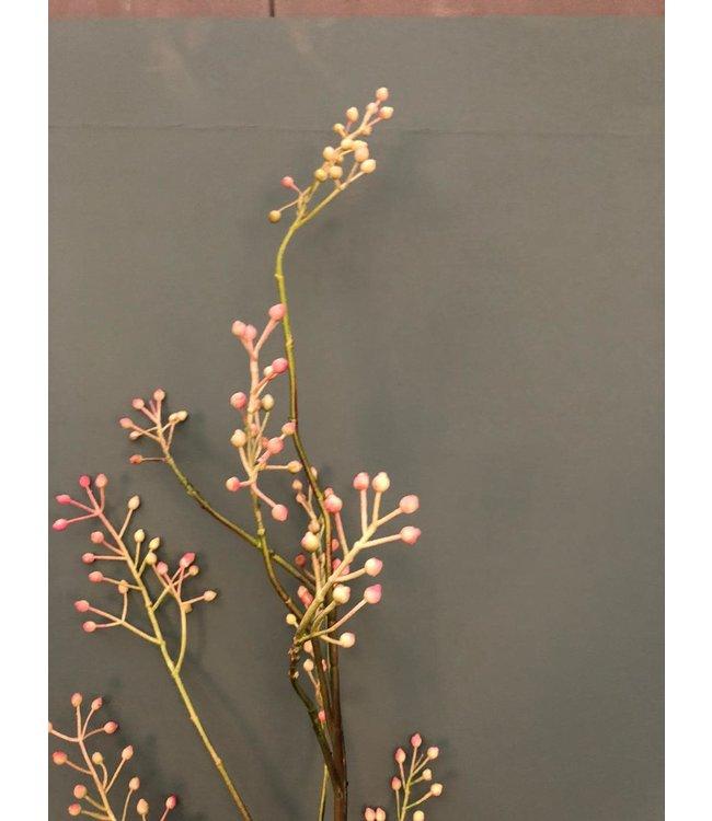 Rozebottel tak - kunst - roze - rose hip stem - 123 cm