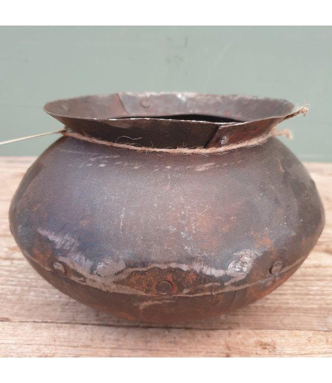 # Metalen kookpot - 2 - 20 x 20 x 13 cm