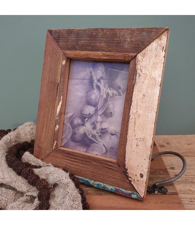 Resto wood photoframe small - 22 x 2 x 27 cm - foto 11,5 x 16,5 cm - fotolijst