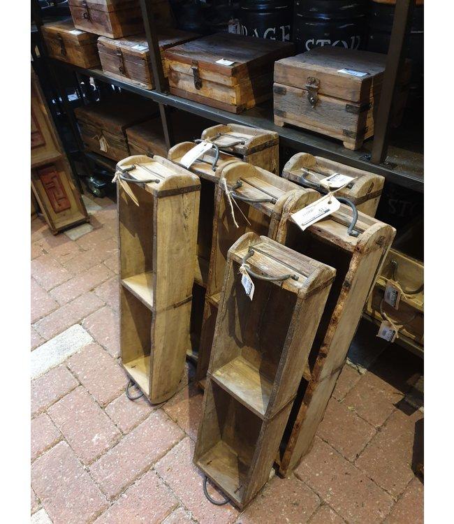 # Wooden 2-brick tray with handles - per stuk