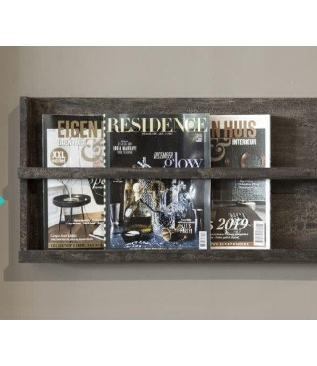 # I478 - Magazine rek - grey finish - 75 x 2 x 35 cm - tijdschriftrek