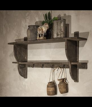 Houten kapstok met legplanken - 87 x 18 x 45 cm
