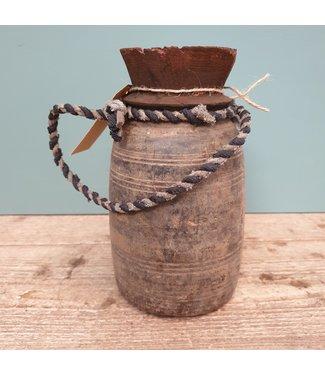 Nepalese houten vaas - 29 - 12 x 12 x 22 cm