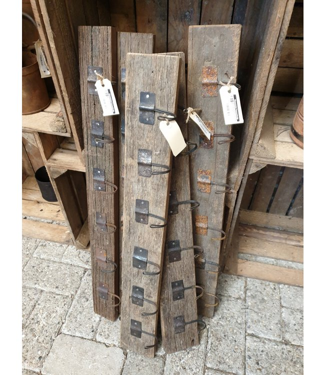 # Railwaywood kapstok - per stuk - 75 x 2 x 11 cm