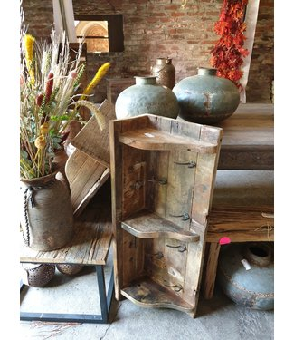 # Houten kapstok - regaal - 90  x 33 x 20cm