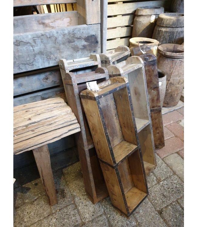*Z252 - Baksteenmal (zonder stempel) - per stuk - dubbel - hout - 60 x 15 x 10