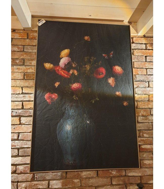 # Muse bloemenvaas in houten lijst 81 x 121 cm