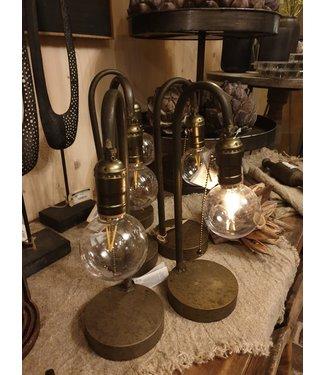 # J373 - tafellamp led kilian grijs - (per stuk) 12 x 12 x 35 cm