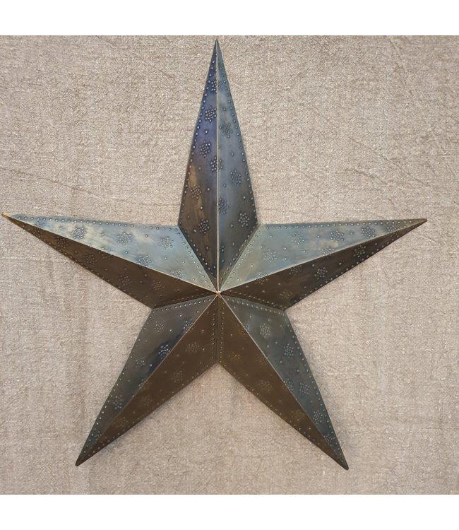 Star beaded single 75 ant.brass - 75 x 73 x 8 cm 9- ster - Voor aan de muur)
