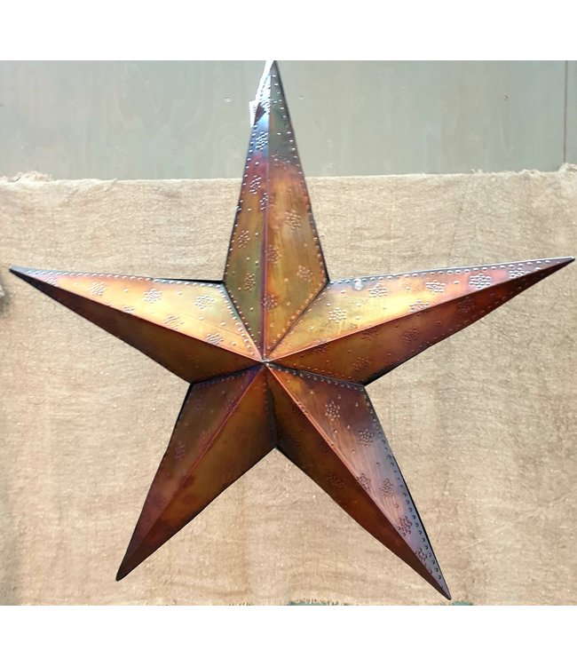 Star beaded 3-D 70 burnt copper - 73 x 73 x 15 cm - ster