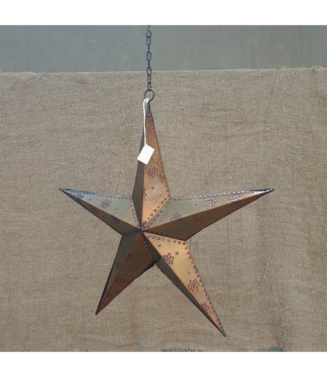 Star beaded 3-D 40 burnt copper - 38 x 38 x 7 cm - ster