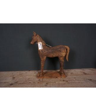# Houtsnijwerkpaard - 6 - 31 x 10 x 48 cm