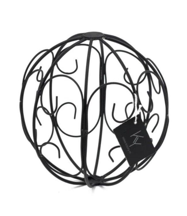 # Metalen kerstbal - 15 x 15 cm draadbal