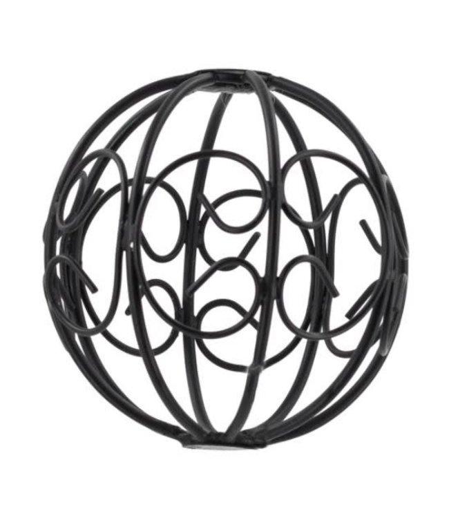 # Metalen kerstbal 10 x 10 cm - draadbal