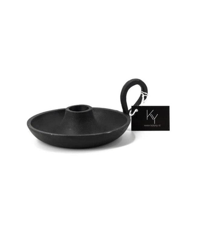 # Zwart metalen blaker - 15,5 x 12 x 3,5 cm