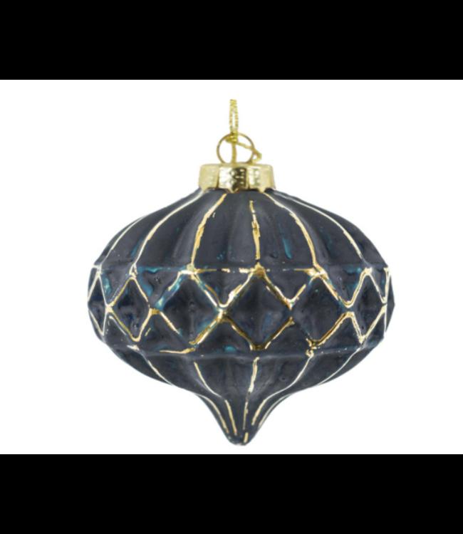 Glazen hanger - 7,7 x 7,7 x 7,7 cm - kerstbal