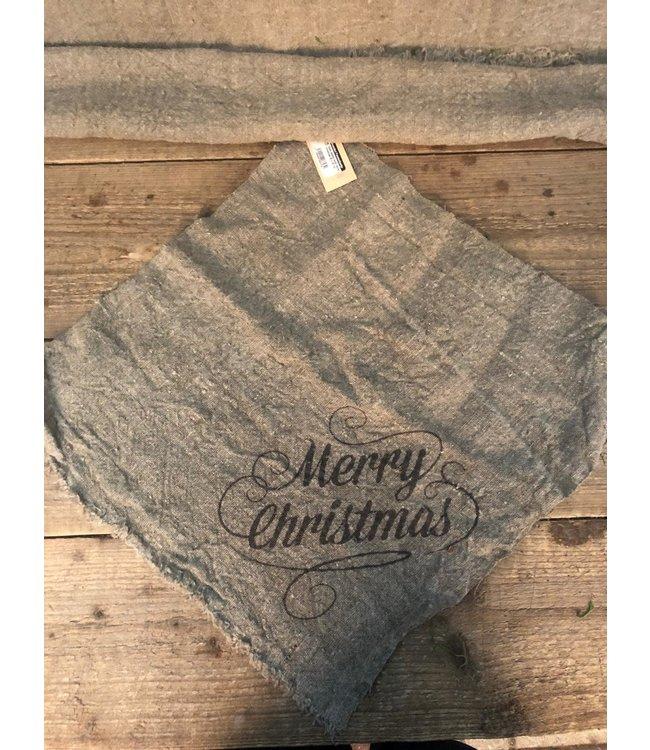 *Doek shabby kerst merry christmas 45 x 45 cm