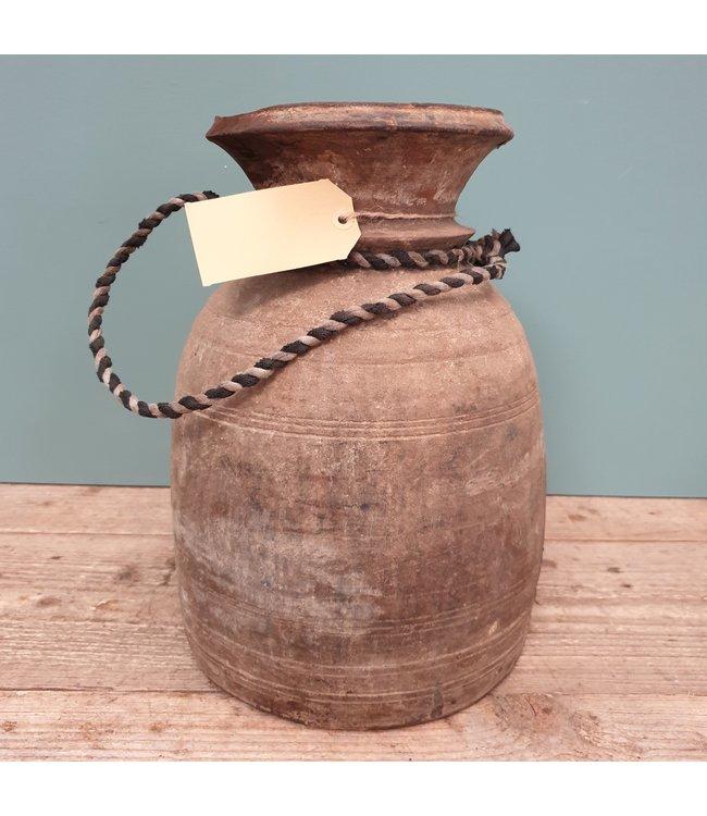 Nepalese houten vaas - 40 - 22 x 22 x 32 cm