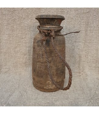 Nepalese houten vaas - 48 - 15 x 15 x 22 cm