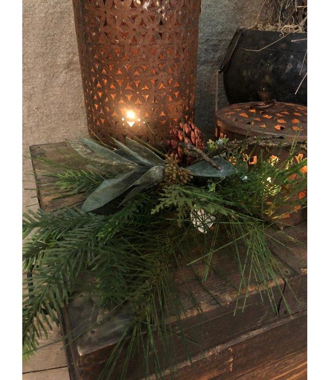 I802 - Kersttoef - kunst - 47 x 33 x 10 cm
