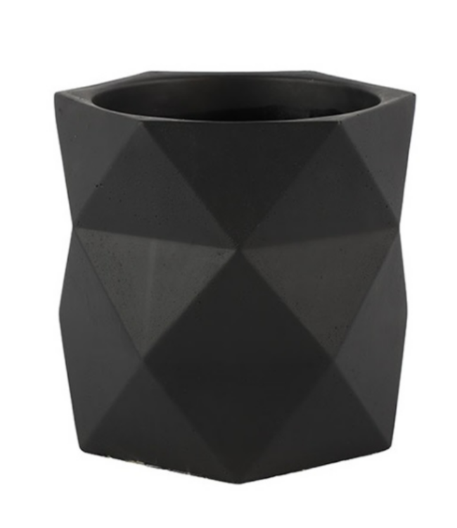 Bloempot Rombo XL zwart - L19B19H18CM