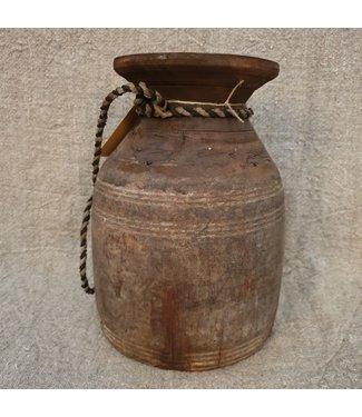 Nepalese houten vaas - 55 - 20 x 20 x 29 cm