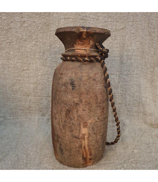 Nepalese houten vaas - 57 - 14 x 14 x 34 cm